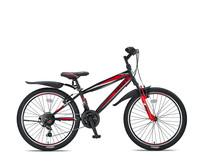 Umit Faster Mountainbike 24 inch 21v Zwart Rood