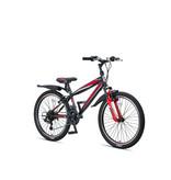 Altec Umit Faster Mountainbike 24 inch 21v Zwart Rood