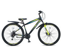 Umit Faster Mountainbike 26 inch 2D 21v Zwart Lime