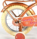 Volare Lovely Stars Kinderfiets - Meisjes - 14 inch - Goud - 95% afgemonteerd