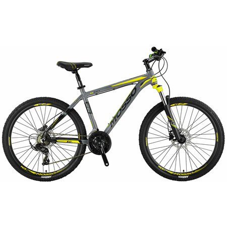 Mosso Wildfire Mountainbike 26 inch 21v HYDR Grijs Lime