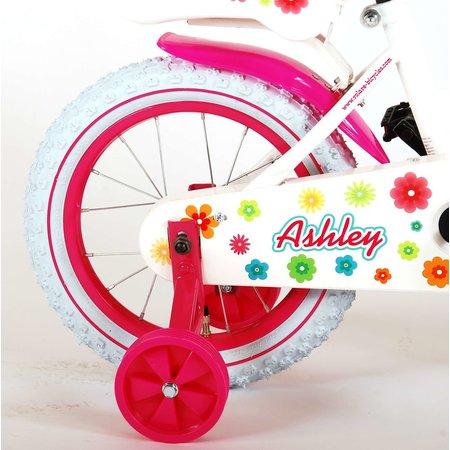 Volare Ashley Kinderfiets - Meisjes - 14 inch - Wit - 95% afgemonteerd