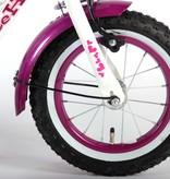 Volare Heart Cruiser Kinderfiets - Meisjes - 12 inch - Wit Paars