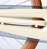 SALUTONI Excellent Stadsfiets - Vrouwen - 28 inch - 50 centimeter - Parelmoer - Shimano Nexus 3 versnellingen - 95% afgemonteerd