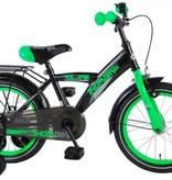 Volare Thombike 16 inch Jongens Satijn Zwart/Groen