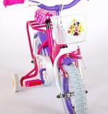Disney Minnie Bow-Tique Kinderfiets - Meisjes - 12 inch - Roze Wit - 95% afgemonteerd