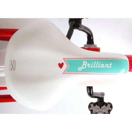 Volare Brilliant Kinderfiets - Meisjes - 16 inch - Roze - 95% afgemonteerd