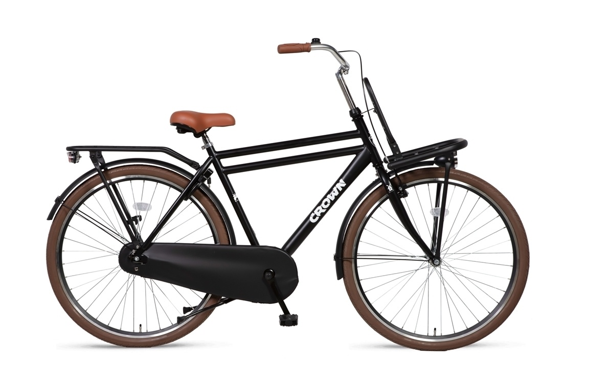 Crown Holland 28 inch transportfiets 55cm Zwart