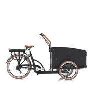 Vogue Troy Bakfiets 49cm Matt Black/Brown S7