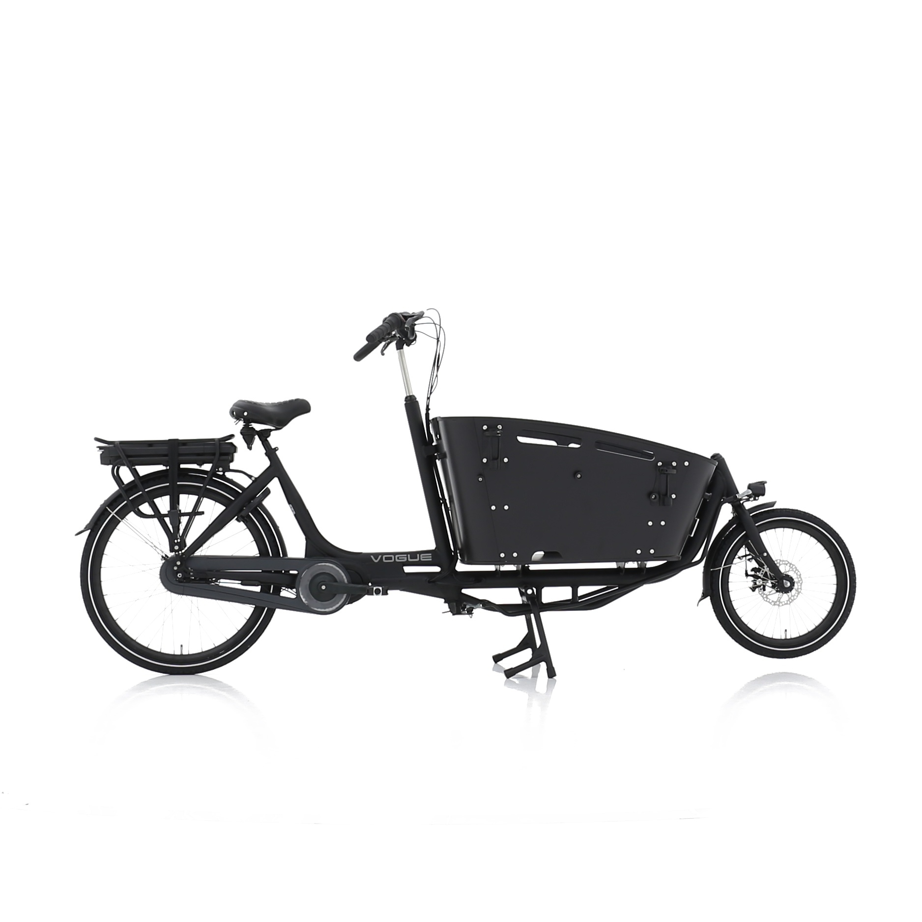 Vogue Carry 2 Bakfiets 48cm Matt Black/Black 7V