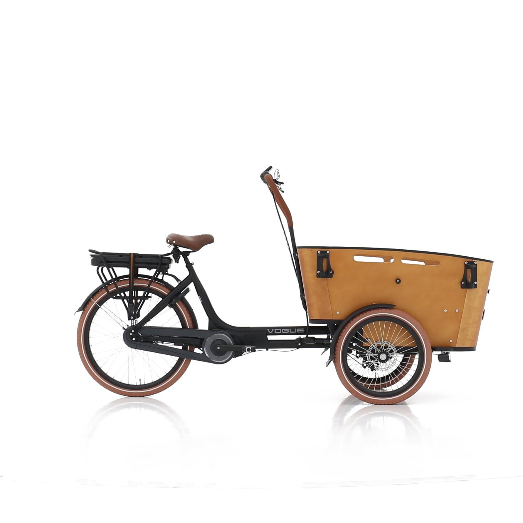 Vogue Carry 3 Bakfiets 49 cm Matt Black/Brown 7V