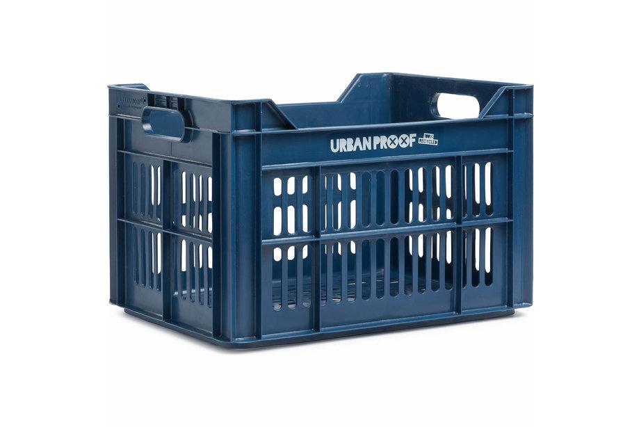 Urban Proof fietskrat 30 liter Dark blue Recycled