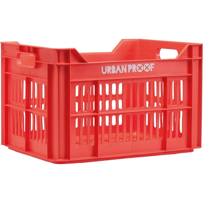 Urban Proof fietskrat 30L Lobster red - RECYCLED