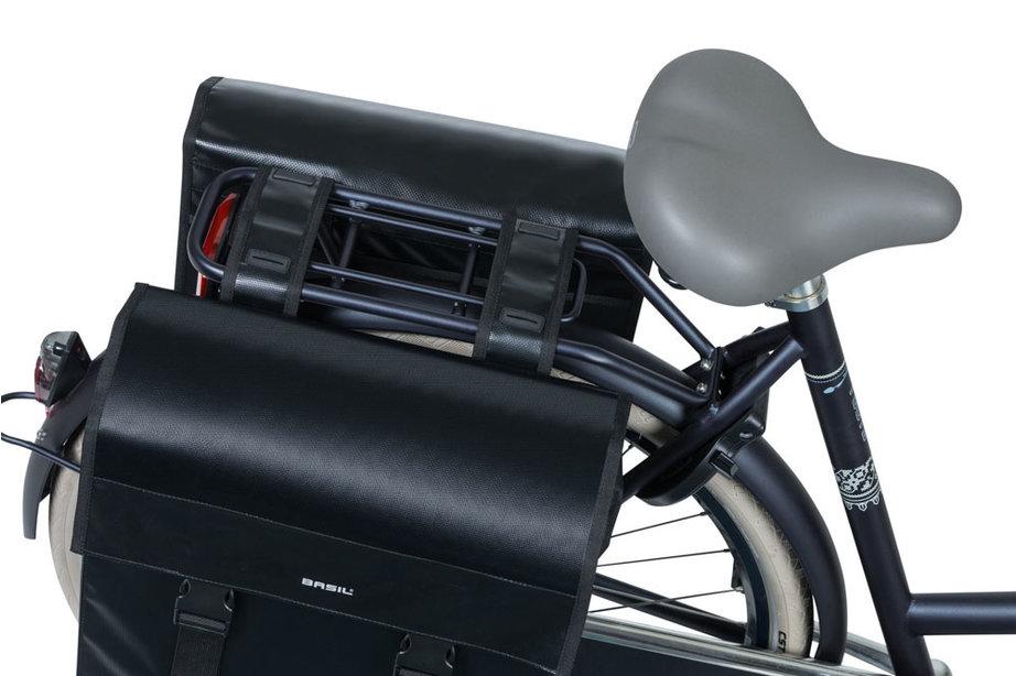 Basil fietstas dubbel Urban load zwart
