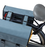 Basil fietstas dubbel Urban load grijs goud