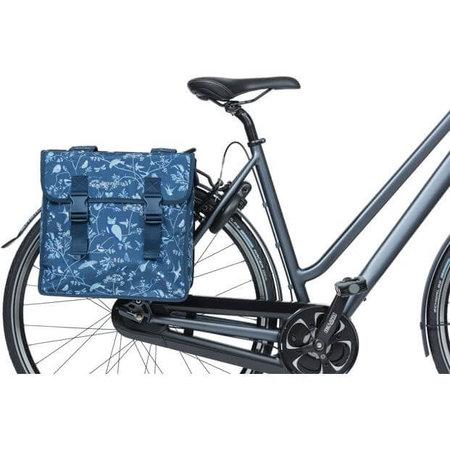 Basil fietstas dubbel Wanderlust indigo blauw