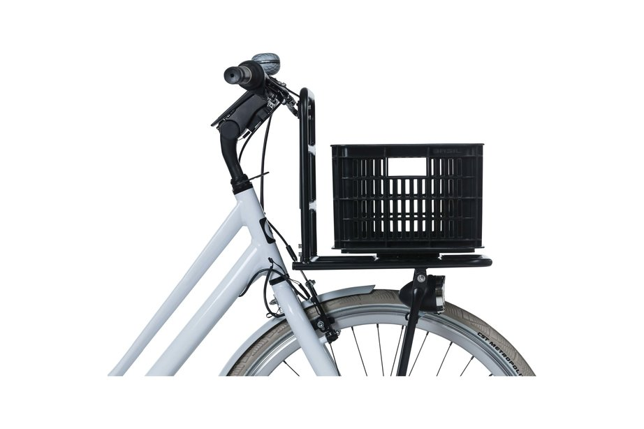Basil fietskrat S klein zwart