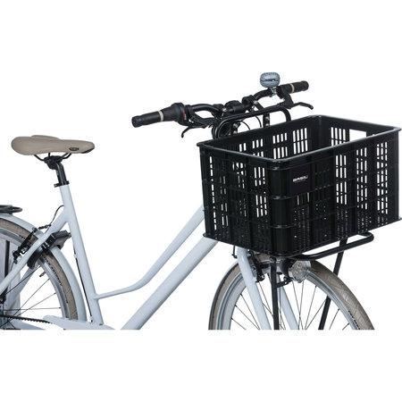 Basil fietskrat L groot zwart