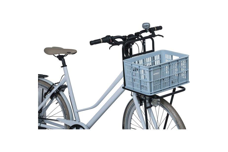 Basil fietskrat S klein silver cloud