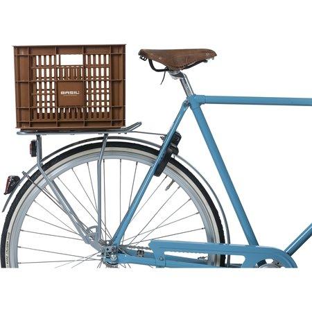 Basil fietskrat M medium saddle brown