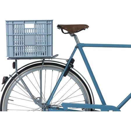Basil fietskrat L groot silver cloud