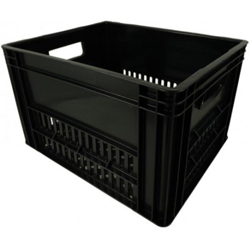 KERRI krat L zwart, 43x35x27 cm