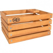 Two-O krat The Transporter houten krat, met koffiebekerhouder