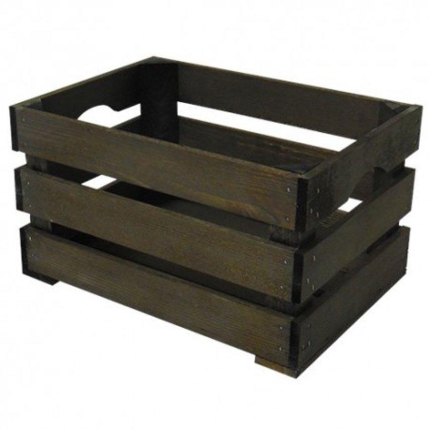 WICKED houten krat klein, (35x25x20)