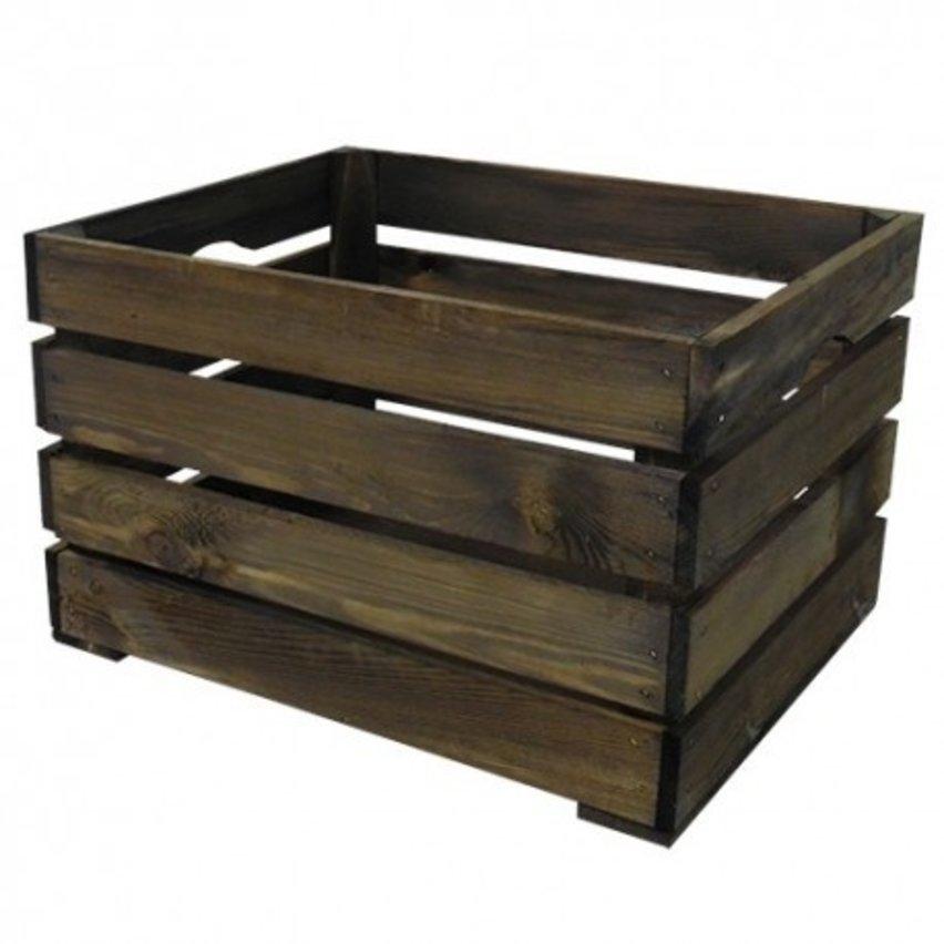 WICKED houten krat groot, (43x35x27)