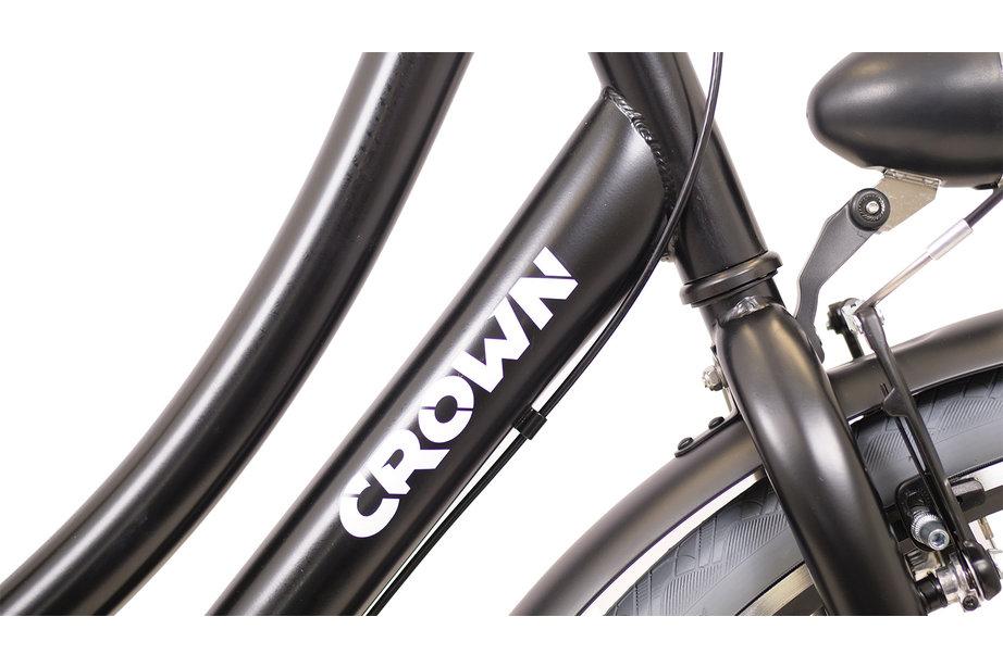 Crown Athens Omafiets 28 inch 53cm 3v Grijs