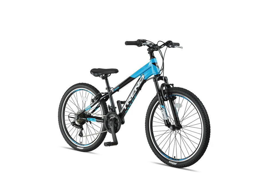 Altec Trend 24 inch Mountainbike 21v Zwart Blauw