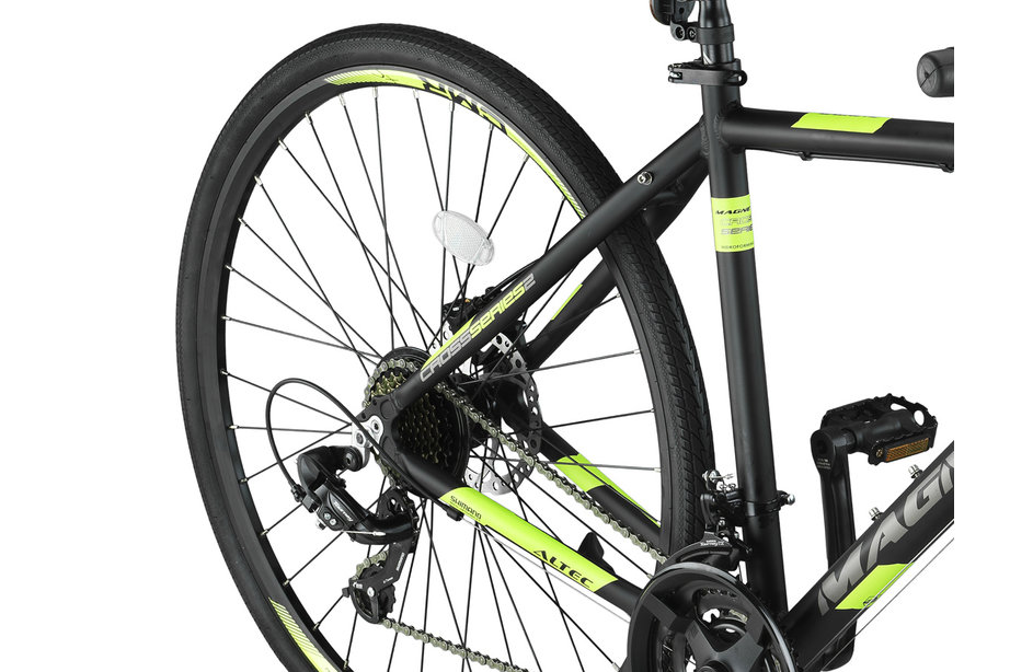 Altec Magnetic Trekking MTB Heren 28 inch Zwart Lime