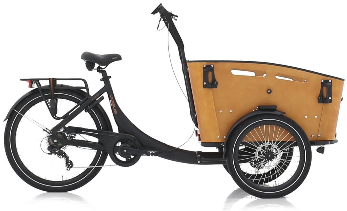 Vogue Superior 3 Bakfiets 48cm Matt Black/Brown 7V online kopen