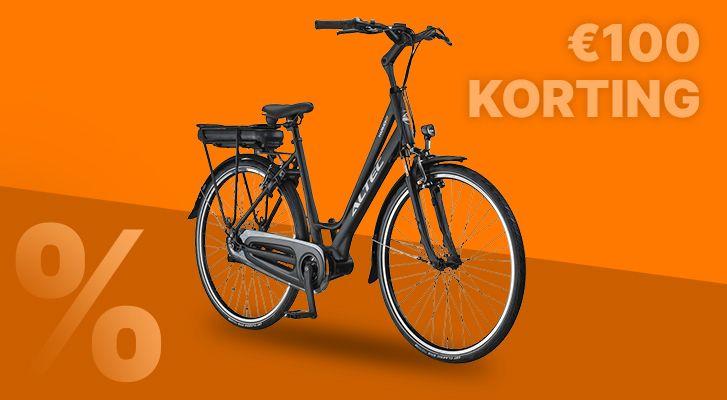 €100,- Cashback op al onze nieuwe e-bikes