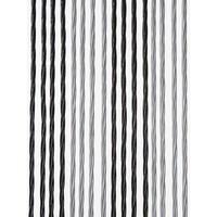 Vliegengordijnencenter.nl Deurgordijn PVC Licht Zwart - Zilver Duo