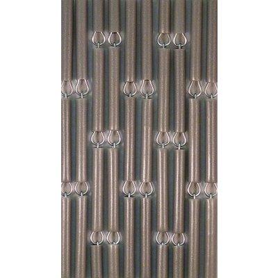 Vliegengordijn Zilver/Metallic Verspringend