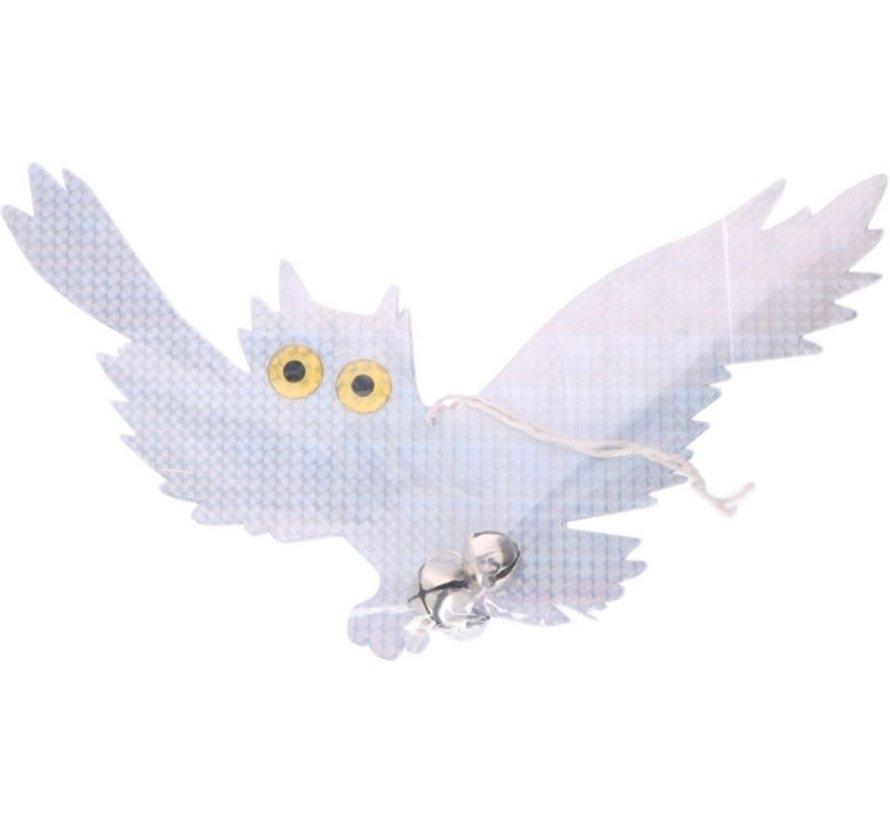 Vogelverschrikker Vliegende Uil Met Bel