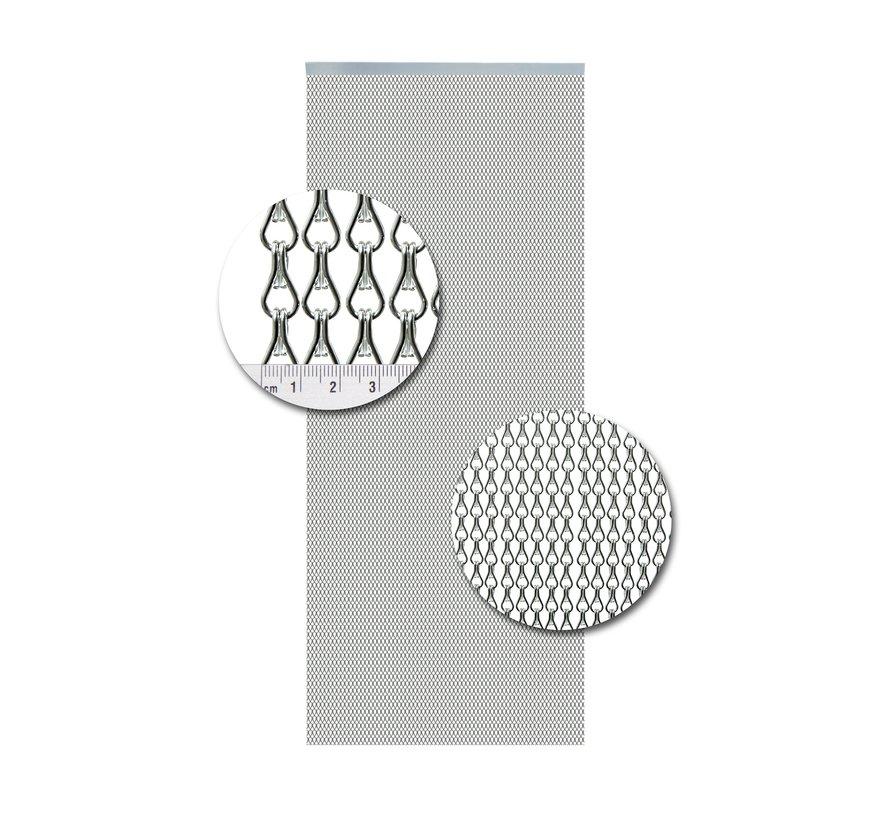 Vliegengordijn Aluminium Mini Zilver