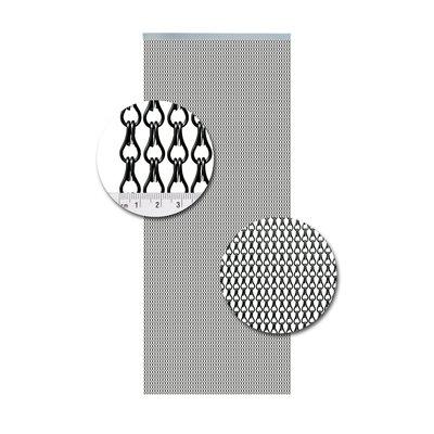 Vliegengordijn Aluminium Antraciet