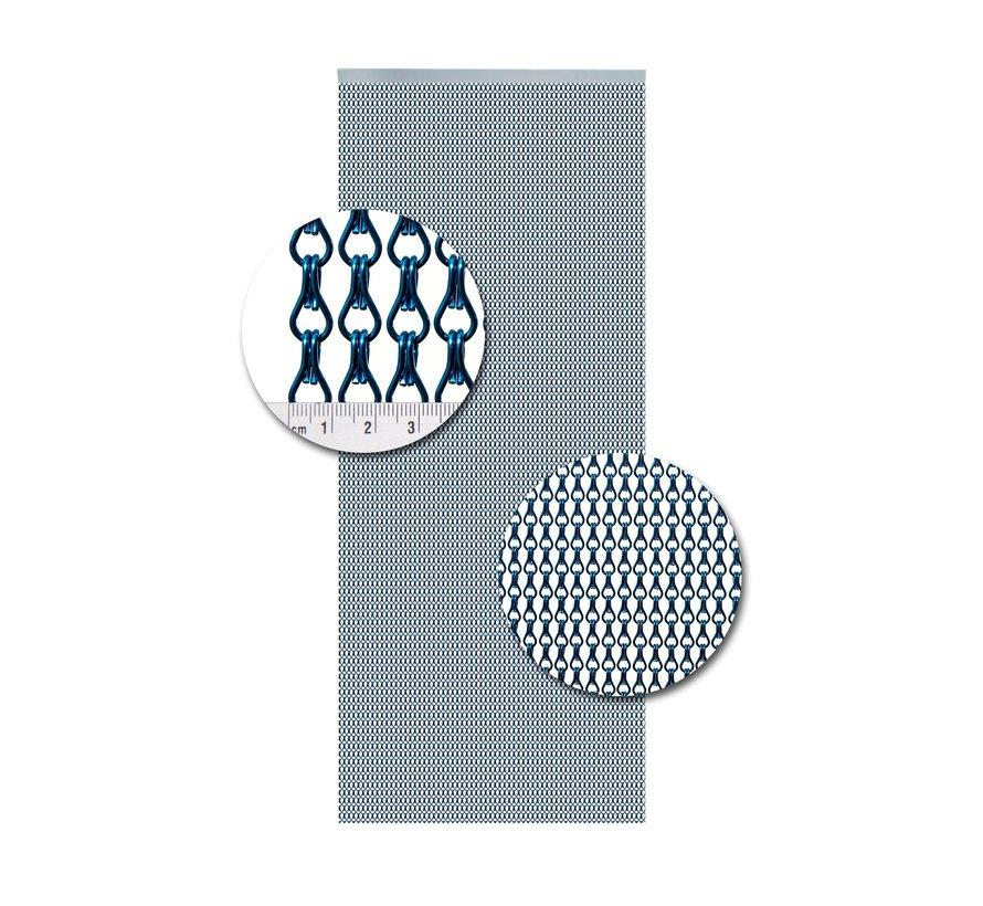 Vliegengordijn Aluminium Blauw