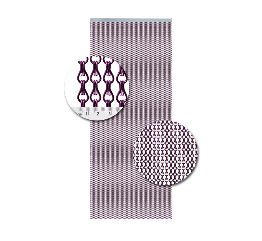 Vliegengordijn Aluminium Paars