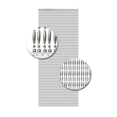 Kralengordijn Metallic Zilver Recht