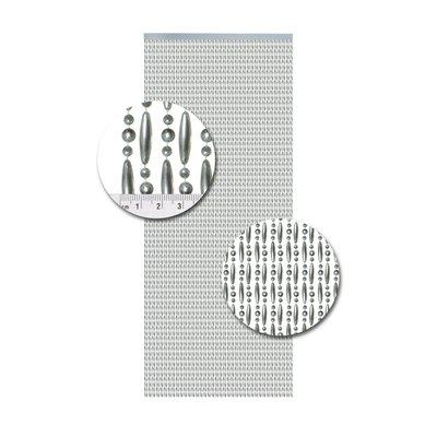Kralengordijn Metallic Zilver Verspringend