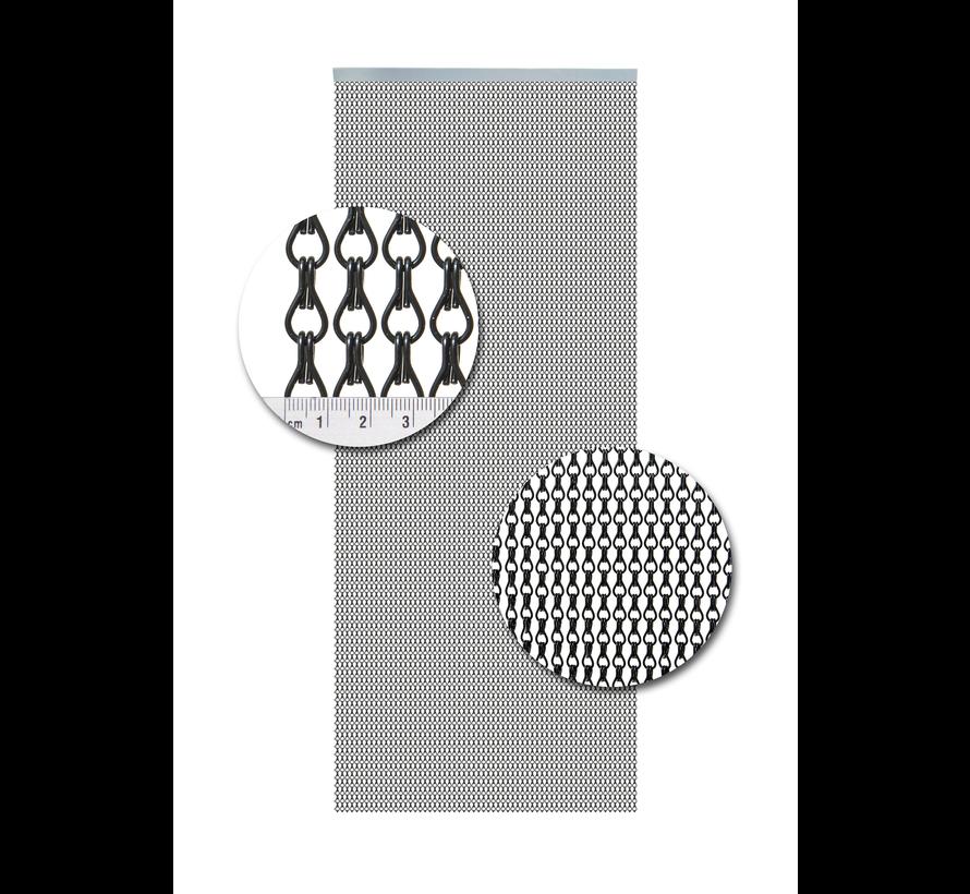 Vliegengordijn Aluminium Zwart