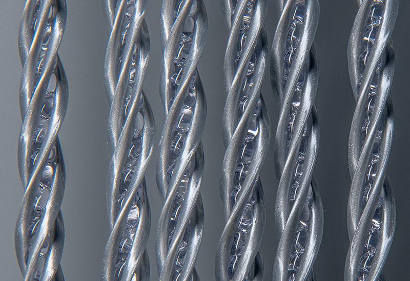 Deurgordijn PVC Zwaar Transparant - Grijs