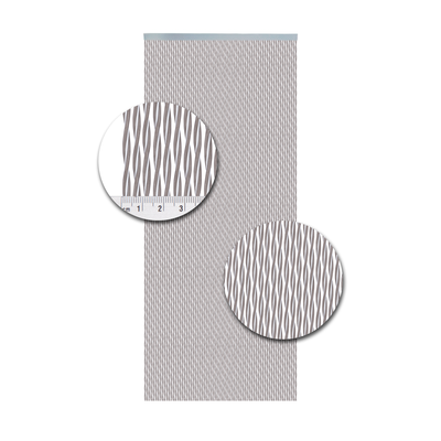 Deurgordijn PVC Monza wit-taupe