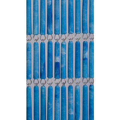 Hulzen Vliegengordijn Blauw Gevlekt