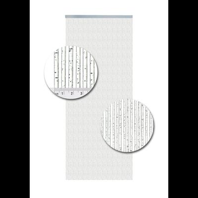 Deurgordijn PVC Como Glitter Zilver