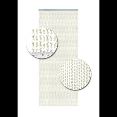Deurgordijn PVC Lucca Geel