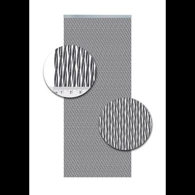 Deurgordijn PVC Monza zwart-zilver